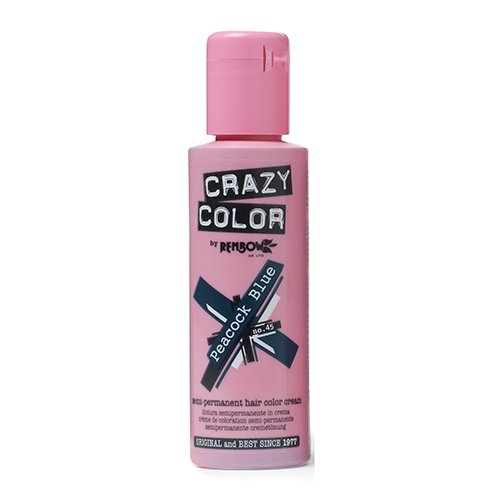103 opinioni per Renbow Crazy Color No.45 Peacock Blue Semi-Permanent Cream 100ml