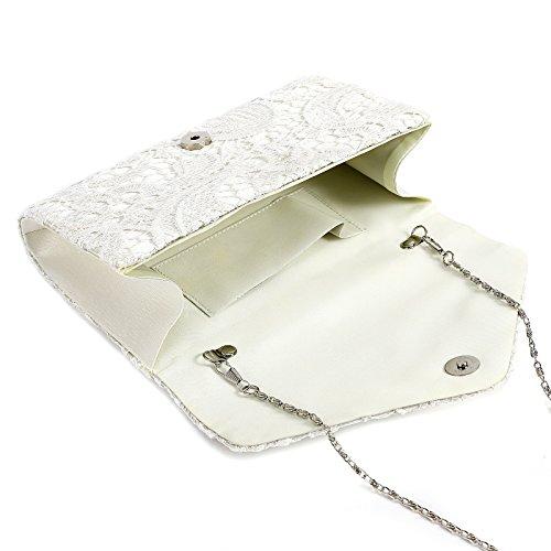 14 Enveloppe Beige triangulaire main cm 4 avec Sac de 22 soirée Pochette x chaînette Sac x Dentelle à Rabat 5 fwg6Fqtn