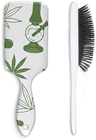 Marijuana Pot Weed Ice Cream Unisex Hair Brushes Stylish Fiber Anti Static Straight Hair Magic Hair Comb Cat Hair Comb