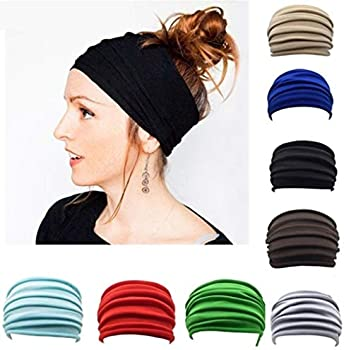 Zippem Womens Turban Headwrap Fashion Stretch Soft Headband Headwear