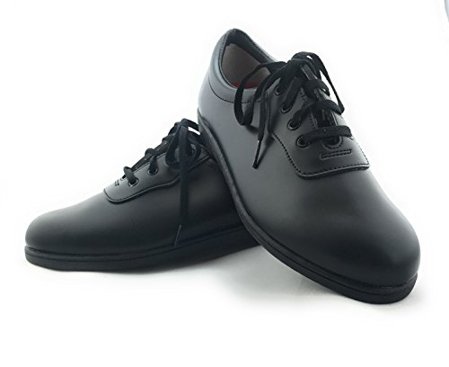 Dinkles Mens Glide Marching Band Shoes (larghezza Media) Nero