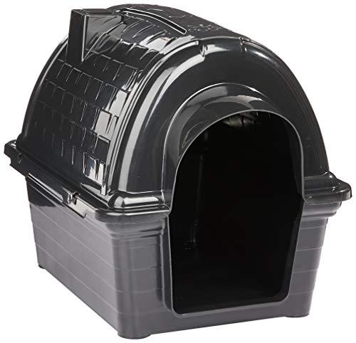 Casinha Plástica Furacão Pet Iglu N.1.0, Black Furacão Pet para Cães