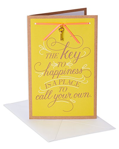 (American Greetings Key to Happiness New Home Congratulations Card with Ribbon)