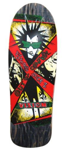 Vision Psycho Stick 2 Reissue Skateboard Deck, Black, 10 x 31.75-Inch