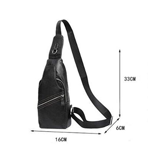 Strukturierter Beiläufige Art Und Weise Kühlen Crossover-Taschen Sack Schulranzen Schwarz Black