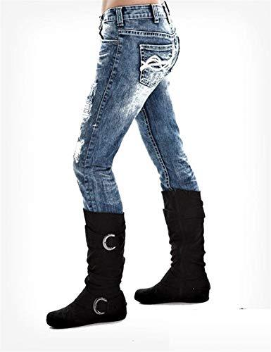 Hellblau Huixin Señoras Alto Rectos Los Stretch Las Ajustados Pantalones Delgados Talle La Vaqueros Elásticos De Manera TqZTBw
