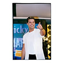 Vintage photo of Ricky Martin visits the FNAC store at the famous Champs Elysées in Paris