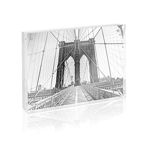 Photo Jacobs - Isaac Jacobs Super Thick Acrylic Magnetic Block Frame, 5x7 Inches
