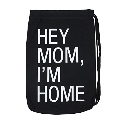 About Face Designs Hey Mom, I'm Home Laundry Bag, One Size, Black by About Face Designs (Image #1)