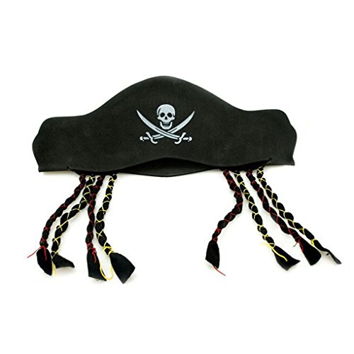 Appropriative Costume - Harmily Halloween props with braids pirate Captain hat