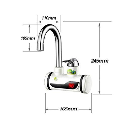 QW Baño grifo eléctrico caliente 220V caliente y fría calentador de agua calentador de agua de 360 ??grados de rotación , B: Amazon.es: Hogar