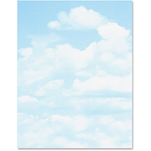 Printer Paper,Letterhead,Clouds,24lb,100/PK,Blue - 2pc by Geographics