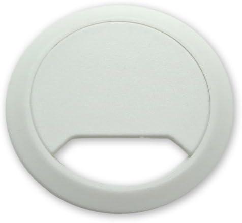 Plastic Desk Grommets 5 Pack Grey Desk Cable Tidies 60mm Office Cables Organiser/… Desk Hole Inserts