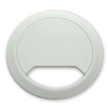 office desk cable hole. 5 white desk cable tidies 60mm grommets hole inserts tidy office