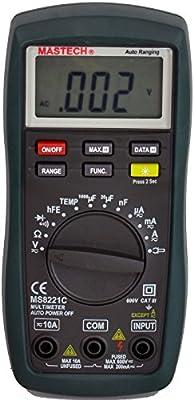 Mastech MS8221 Digital Multimeter Auto/Manual Ranging DMM
