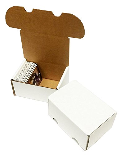 - (50) 200 Count Corrugated Cardboard Storage Boxes by Max Pro for Baseball, Football, Basketball, Hockey, Nascar, Sportscards, Gaming & Trading Cards Collecting Supplies