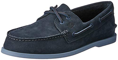 SPERRY Men's A/O 2-Eye Washable Boat Shoe, Navy, 9 M US