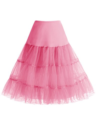 Petticoats Ginocchio Annata Vintage Pink Gardenwed Al Sottogonne Rockabilly Donna 1950s Mini Retro Gonne qxA1pZX0w