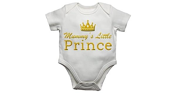Mummys Little Prince Funny Baby Vest Bodysuit Babygrow