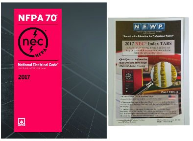 2018 Nec Handbook - NFPA 70 2017 : National Electrical Code (NEC) Paperback (Softbound) and Index Tabs, by NFPA, 2017 Edition, Set