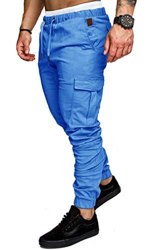 Jogging Bleu Baggy Fit Montagne Socluer Jeans Homme M Multi Grande 4xl Militaire Clair Pantalons Taille Pants Casual Sport Cargo Poches Slim qCXHqx