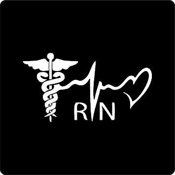 Registered Nurse Vinyl Decal Sticker Lettering Vehicle Car Window Die Cut USA