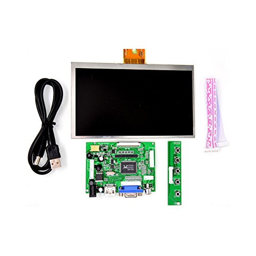 GeeekPi 7 inch 1024 x 600 HDMI Screen LCD Display with Driver Board Monitor for Raspberry Pi by GeeekPi (Image #1)