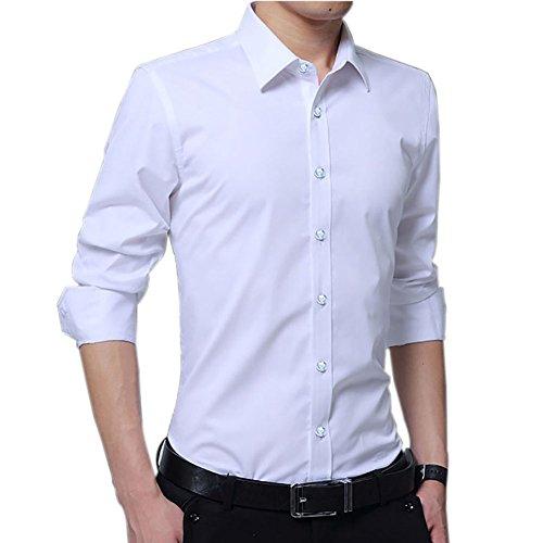 アドバンテージ当社有罪セイゲン シャツ メンズ ワイシャツ yシャツ カッターシャツ ビジネスシャツ 無地 スリム レギュラーカラー ポケットなし