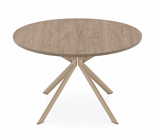 Connubia Giove Extendable Table by Calligaris - Matt Nougat with Deco Nougat Top Wooden