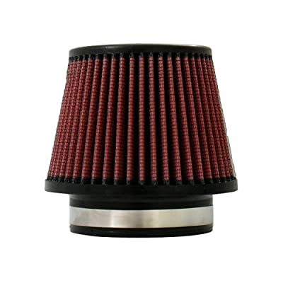 """Injen Technology X-1018-BR Black and Red 4.5"""" High Performance Air Filter: Automotive"""