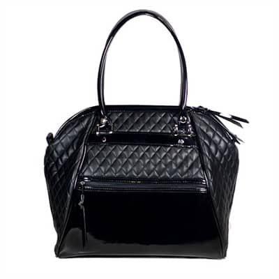 Haylee Quilted Luxe Designer Dog Bag