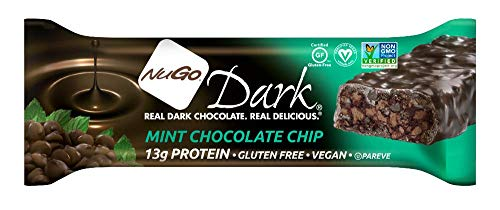 NuGo Dark Mint Chocolate Chip, 1.76-Ounce Bars (Pack of 12)