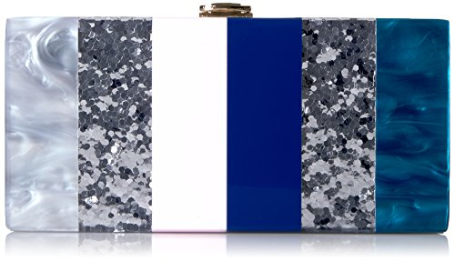 MILLY Marble Box Clutch, Multi
