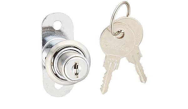 Tono Plata puerta corrediza de escaparate cilindro de la cerradura w dos llaves - - Amazon.com