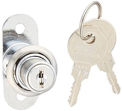 Tono Plata puerta corrediza de escaparate cilindro de la cerradura w dos llaves