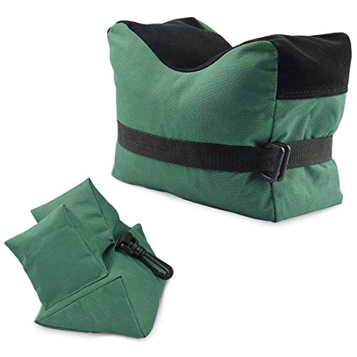 - Jenoco Rifle Shooting Rest Bag Set Bench Rest Shooting Bags Front Rear Gun Benchrest UNFILLED Sandbag Long Range Shoot 2 pc Portable Sand Bag Shotgun Firearm