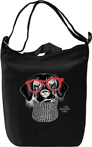 Cute Dog With Red Glasses Borsa Giornaliera Canvas Canvas Day Bag| 100% Premium Cotton Canvas| DTG Printing|