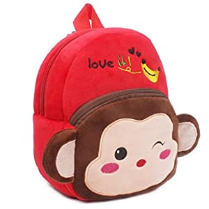 Winkey Backpack, Children Baby Girls Boys Kids Cute Cartoon Animal Backpack Toddler School Bag, Shoulder Bag (Monkey…