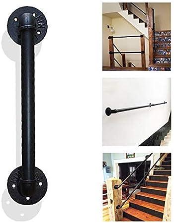 Barandillas de escalera de seguridad Barandilla de escalera de hierro - Kit completo. Seleccione su tamaño - Baranda de escalera de seguridad para barandas de pared para balcones, escaleras y pasillo: Amazon.es: