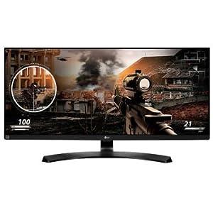 "2017 LG 29"" UltraWide Full HD 2560 x 1080 IPS 21:9 LED Gaming Monitor, Screen Split 2.0, On-Screen Control, Reader Mode, HDMI, Headphone Out, USB Type-C, Black"