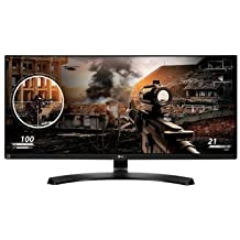"2017 LG 29"" UltraWide Full HD 2560 x 1080 IPS 21:9 LED Gaming Monitor, Screen Split 2.0, On-Screen Control, Reader Mode, HDMI, Headphone Out, USB Type-C, Black"