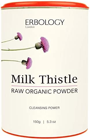 Organic Milk Thistle Powder 5.3 oz – Promotes Liver Health – Natural – Raw – Vegan – Non-GMO – From Cold-pressed Milk Thistle Seeds