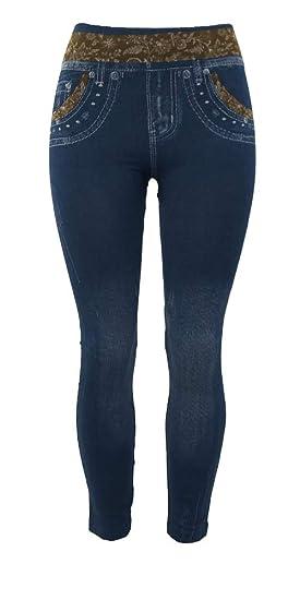 1247c748ba9e7 ITSALLLEGGINGS Women's Soft, Stretchy, Jean Look Jeggings, Denim Leggings  (One, Antique