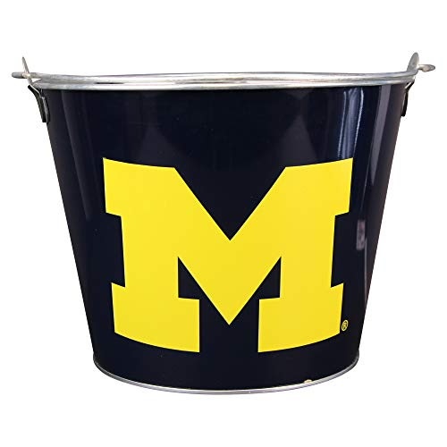 NCAA Full Color Team Logo Aluminum Beer and Ice Bucket (Michigan Wolverines)