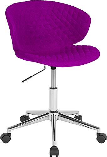 - StarSun Depot Cambridge Home and Office Upholstered Mid-Back Chair in Purple Fabric 24.5