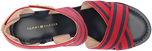 8c462823 Sandal Tommy Wedge Hilfiger Navy Theia Red Women's Espadrille 44xAqzw