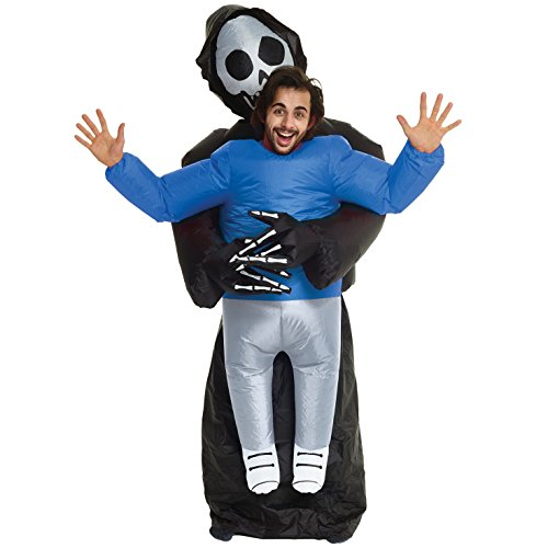 Grim Reaper Pick Me Up Inflatable Blow Up Costume - One size fits most -