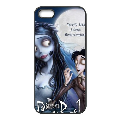 iPhone 4/4S Cover, Custodia per iPhone 4S, Tim Burton S Corpse Bride Design Durevole materiale silicone Rubber Case Cover for iPhone 4 4s