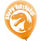 Amscan Prehistoric Party Dinosaur Printed Latex Balloons Decoration, Multicolor, 12""