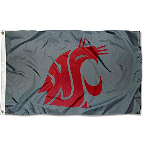(College Flags and Banners Co. Washington State Cougars Cougar Grey Flag)